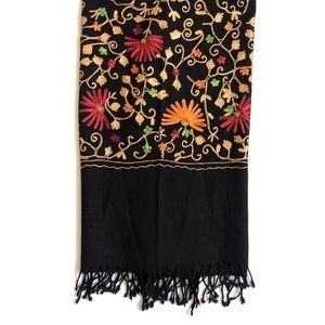 Sevya Accessories - Embroidered scarf wrap • NWT